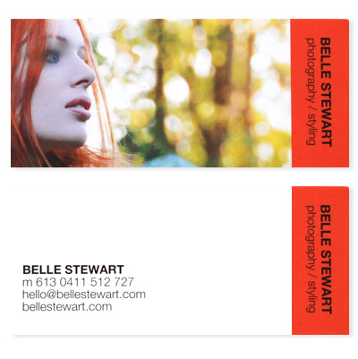 belle stewart business card design by fiona mckerrell