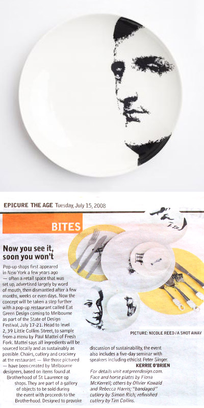 fiona mckerrell plate design, before and after project, eat green design.